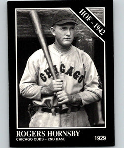 1991 Conlon Collection #1 Rogers Hornsby HOF NM Chicago Cubs