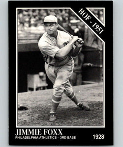 1991 Conlon Collection #2 Jimmie Foxx HOF NM Philadelphia Athletics