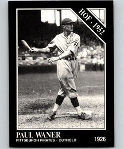 1991 Conlon Collection #5 Paul Waner HOF NM Pittsburgh Pirates