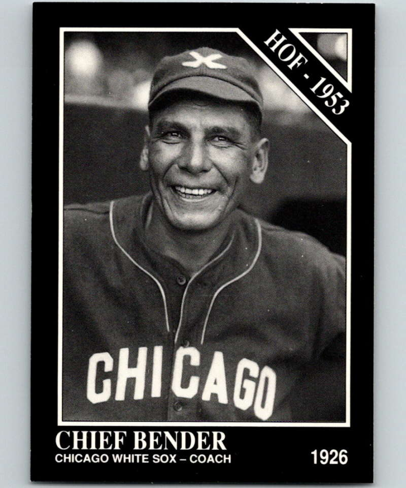 1991 Conlon Collection #20 Chief Bender HOF NM Chicago White Sox