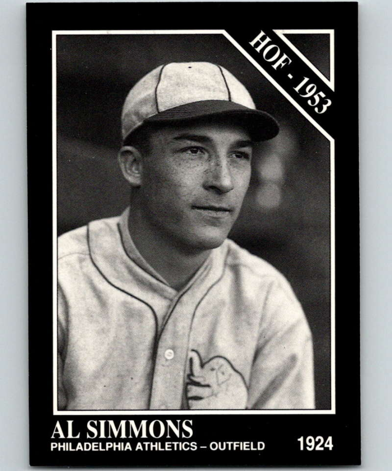 1991 Conlon Collection #49 Al Simmons HOF NM Philadelphia Athletics