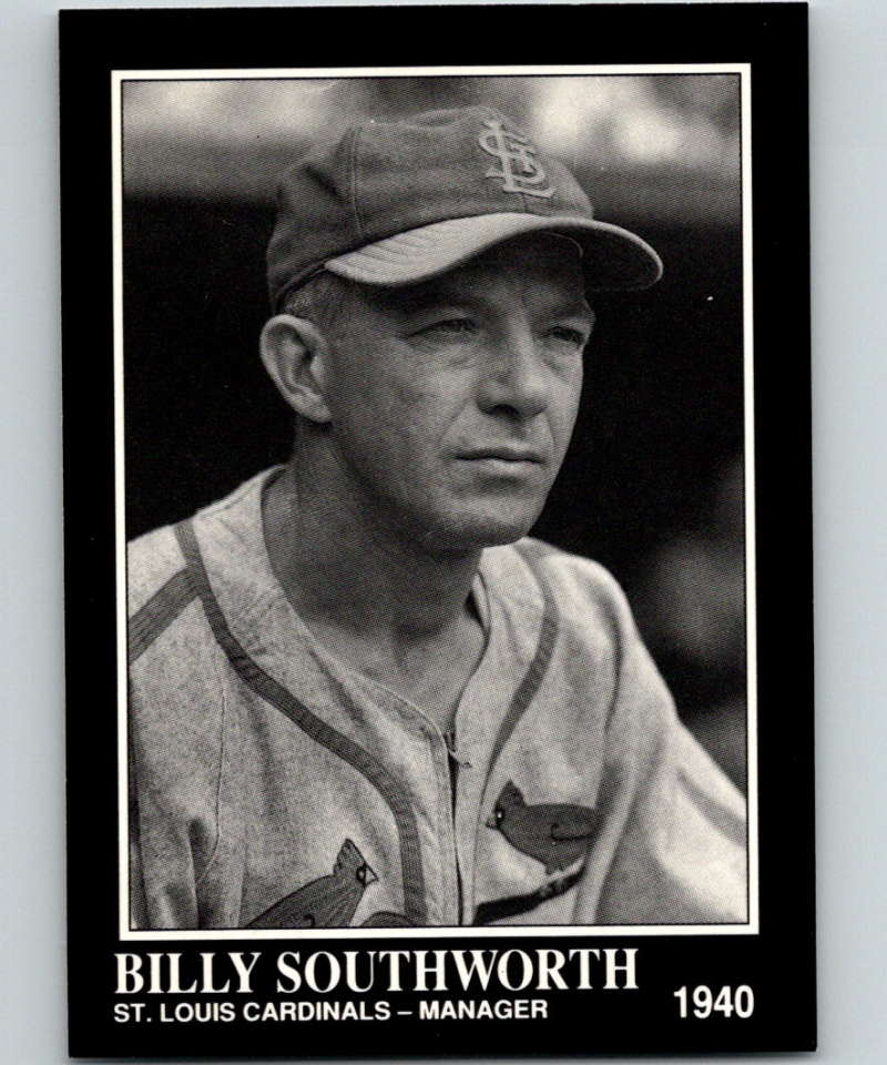 1991 Conlon Collection #89 Billy Southworth NM St. Louis Cardinals