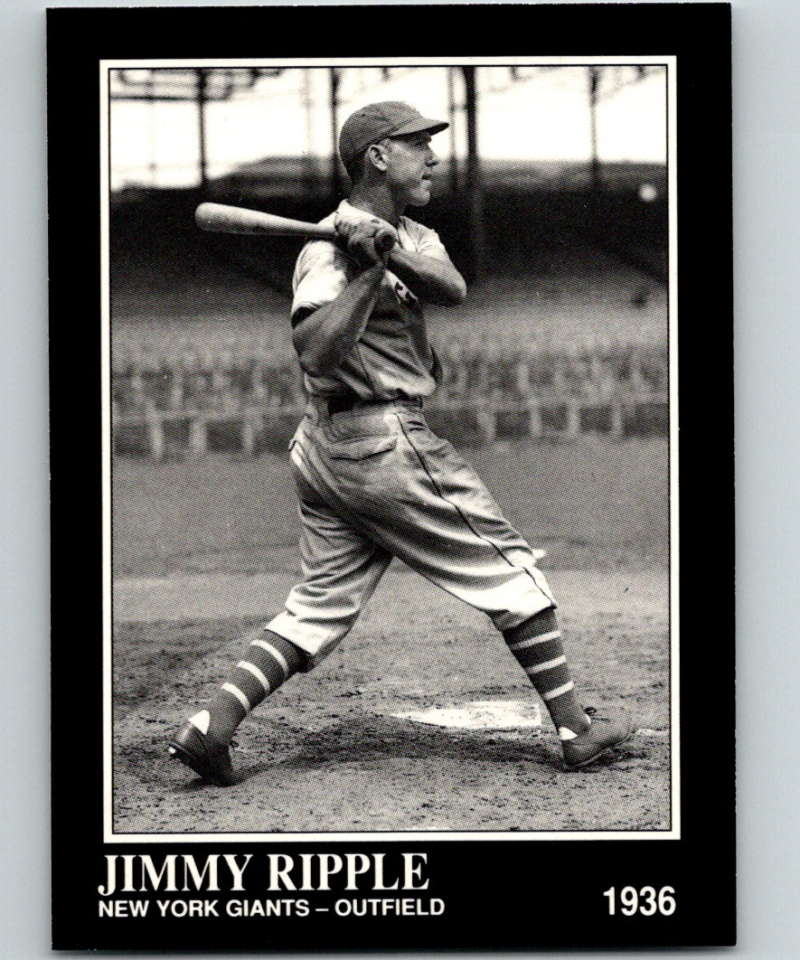 1991 Conlon Collection #86 Jimmy Ripple NM New York Giants