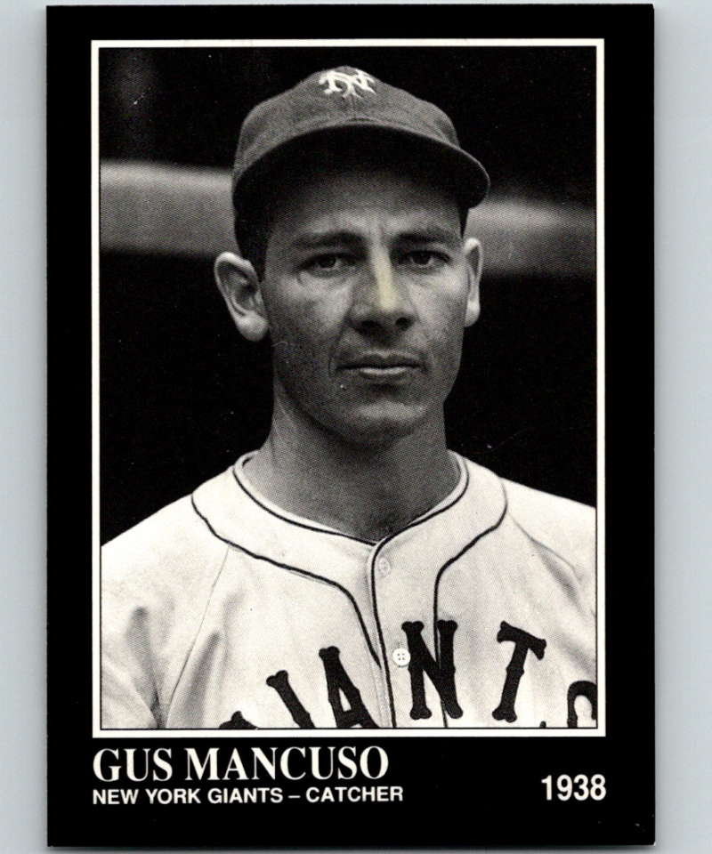 1991 Conlon Collection #129 Gus Mancuso NM New York Giants