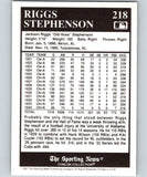 1991 Conlon Collection #218 Riggs Stephenson NM Chicago Cubs
