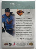 2007-08 The Cup #132 Brett Sterling RC Rookie Auto 102/249 Patch 06962