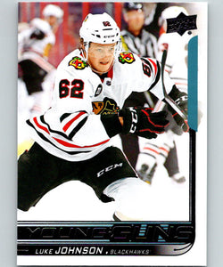 2018-19 Upper Deck #245 Luke Johnson MINT Blackhawks RC Young Guns 06817