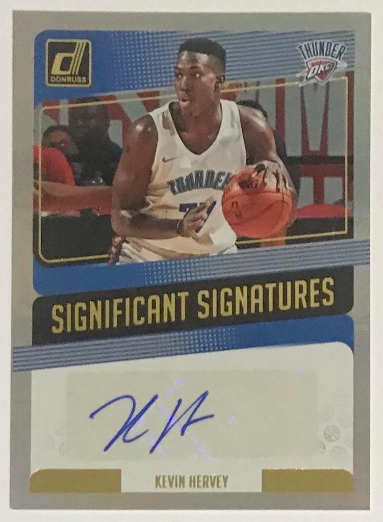 2018-19 Donruss Significant Signatures #SS-KH Kevin Hervey Auto THUNDER 06826