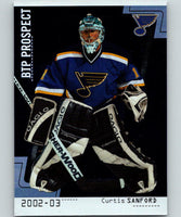 2002-03 Between the Pipes #75 Curtis Sanford MINT RC Rookie 07017