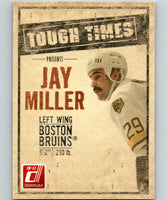 2010-11 Donruss Tough Times #8 Jay Miller Bruins 07127