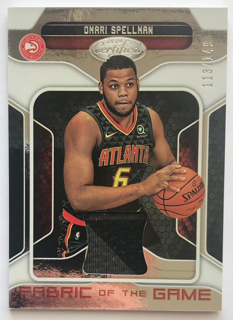2018-19 Panini Certified Fabric of the Game Rookies Omari Spellman 113/149 07250
