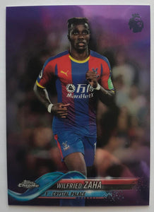 2018-19 Topps Chrome Premier League Refractors Purple Wilfried Zaha 34/250 07252