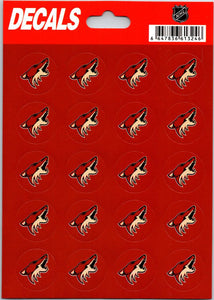 "Arizona Coyotes Vinyl Sticker Sheet 5""x7"" Decals - 1"" Round x20"