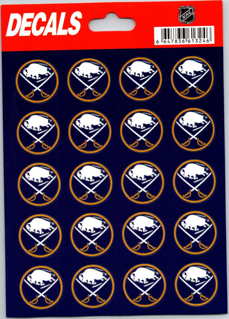 "Buffalo Sabres Vinyl Sticker Sheet 5""x7"" Decals - 1"" Round x20"