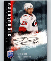 2009-10 In The Game Be A Player Signatures Erik Cole Auto 07266
