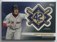 2018 Topps Update Jackie Robinson Day Commemorative Patches Andrew Benintendi 07393