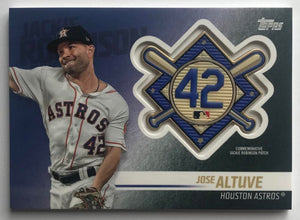 2018 Topps Update Jackie Robinson Day Commemorative Patches Jose Altuve 07394