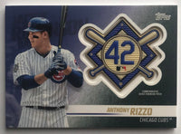 2018 Topps Update Jackie Robinson Day Commemorative Patches Anthony Rizzo 07395