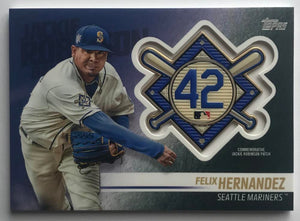 2018 Topps Update Jackie Robinson Day Commemorative Patches Felix Hernandez 07396