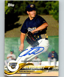2018 Topps Pro Debut Autographs #125 Chris Rodriguez MINT Auto 07424