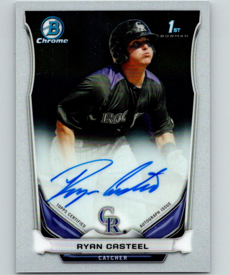 2014 Bowman Chrome Prospects Autographs Ryan Casteel RC Rookie Auto 07427
