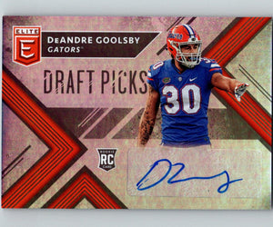 2018 Panini Elite Draft Picks Autographs DeAndre Goolsby Auto RC 07442