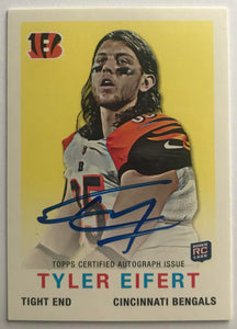 2013 Topps 1959 Mini Autographs #9 Tyler Eifert Mint Auto RC Rookie 07443