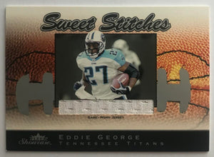 2003 Fleer Showcase Sweet Stitches Jerseys Eddie George 41/899 07445