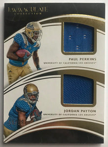 2016 Immaculate Collection Collegiate Material Combos Payton/ Perkins 55/99 07450