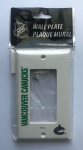 Vancouver Canucks Push Switch Wall Plate Cover - Brand New with Screws