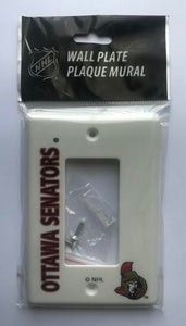 Ottawa Senators Push Switch Wall Plate Cover - Brand New with Screws