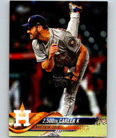 2018 Topps Update #US89 Justin Verlander Like New Houston Astros