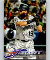 2018 Topps Update #US97 Charlie Blackmon Like New Colorado Rockies