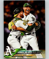 2018 Topps Update #US167 Sean Manaea Like New Oakland Athletics