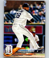 2018 Topps Update #US180 Francisco Liriano Like New Detroit Tigers