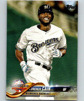 2018 Topps Update #US186 Lorenzo Cain Like New Milwaukee Brewers