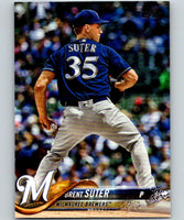 2018 Topps Update #US291 Brent Suter Like New Milwaukee Brewers