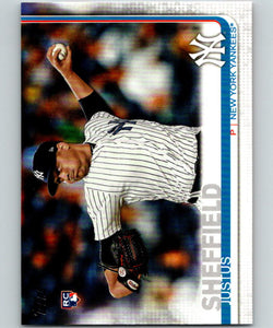 2019 Topps #306 Justus Sheffield MINT RC Rookie New York Yankees 07490