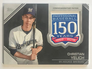 2019 Topps 150th Anniversary Commemorative Patches Christian Yelich MINT 07523