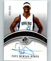 2006-07 Upper Deck SP Authentic #107 Pops Mensah-Bonsu RC Rookie 690/999 Auto 07530