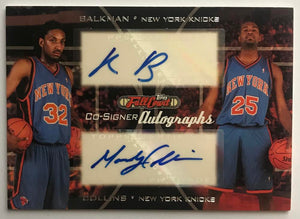2006-07 Topps Full Court Co-Signers Balkman/Collins Dual Auto 07547