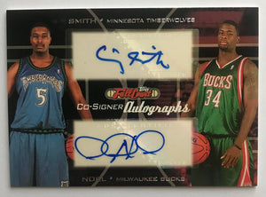 2006-07 Topps Full Court Co-Signers Noel/Smith Dual Auto 07548