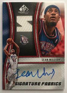 2009-10 SP Game Used Signature Fabrics #SFSW Sean Williams MINT Auto 07551