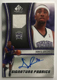 2009-10 SP Game Used Signature Fabrics #SFNE Donte Greene MINT Auto 07553