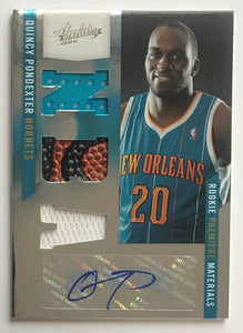 2010-11 Absolute Memorabilia 175 Quincy Pondexter JSY 60/499 Rookie RC 07557