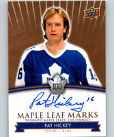 2017-18 Upper Deck Toronto Maple Leafs Centennial Marks Autographs Pat Hickey 07558