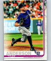 2019 Topps #2 Tyler Anderson Mint Colorado Rockies