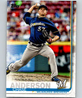 2019 Topps #5 Chase Anderson Mint Milwaukee Brewers