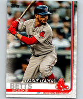 2019 Topps #312 Mookie Betts Mint Boston Red Sox