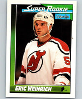 1991-92 O-Pee-Chee #10 Eric Weinrich SR Mint RC Rookie New Jersey Devils